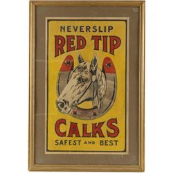 Vintage Red Tip Calks Poster