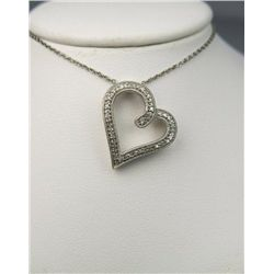 Vintage Inspired Heart Shaped Diamond Pendant