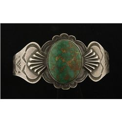 Old Pawn Green Turquoise Cuff Bracelet