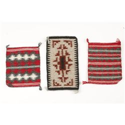 Collection of (3) Miniature Navajo Rugs