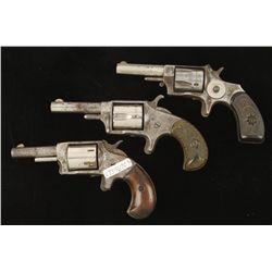 Lot of Three Spur Trigger Revolvers Cal .32