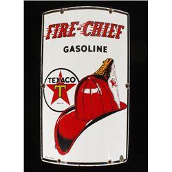 Vintage Texaco Fire Chief Porcelain Gas Pump Sign