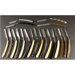 Collection of (20) Antique Straight Razors