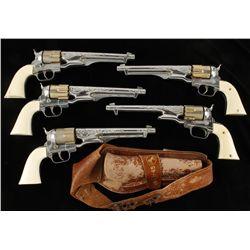 Lot of (5) Hubley Colt .45 Cap Guns