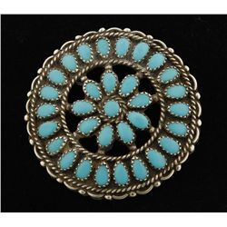 Lovely Pettipoint Pin/Pendant by Larry Moses Begay