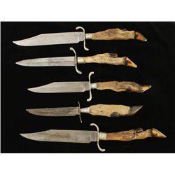 Lot of (5) Deer Hoof Knives