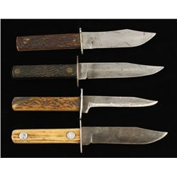 Lot of (4) Antique Hunting Knives