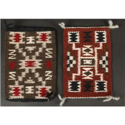 Collection of (2) Miniature Navajo Rugs
