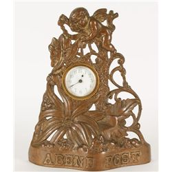 Cast Iron Advertising Clock