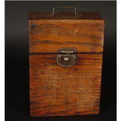 Oak Straight Razor Box with (12) Razors