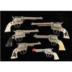 Lot of (6) Vintage Cap Guns