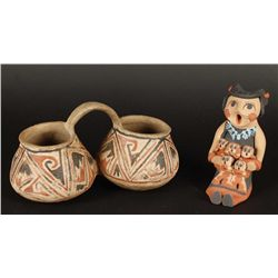 Water Ladle and Storyteller Figurine