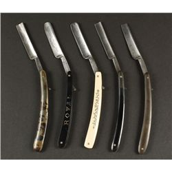 Collection of (5) Straight Razors