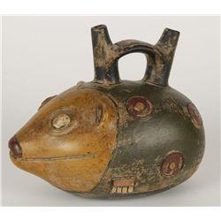Pre-Columbian Animal Stirrup Pot