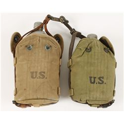 Lot of (2) U.S. Military Canteens
