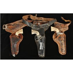 Lot of Toy Holster Rigs and Cap Guns