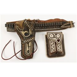 Beautiful Mexican Single Holster Rig and Magazine