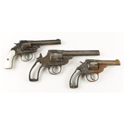 Lot of Three Iver Johnson Safety Automatic Revolve