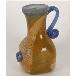 Hand Blown Glass Vase or Pitcher