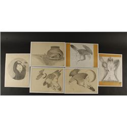 Collection of (6) Pencil Sketches by D.R. Tsosie