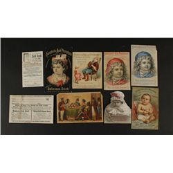 Collection of (8) Advertising Cards