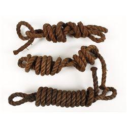 Lot of (3) Halter Tie Ropes