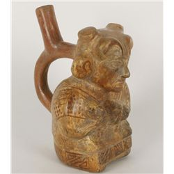 Pre-Columbian Moche Stirrup Pot