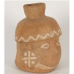 Pre-Columbian Head Pot