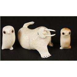 Walrus Ivory Figurines
