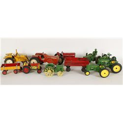 Lot of (9) Toy Tractors