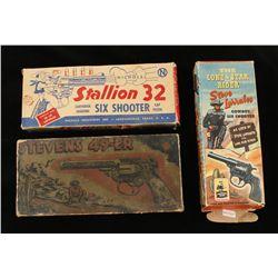 Collection of (3) Vintage Cap Guns