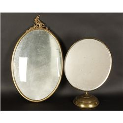 Brass Picture Frame and Brass Shaving Mirror