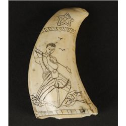 Scrimshaw Whale Tooth