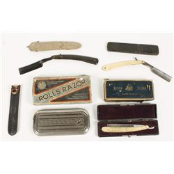 Collection of (8) Antique Straight Razors