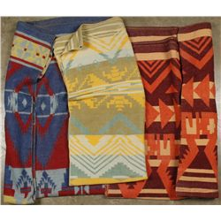 Lot of (3) Indian Style Blankets