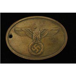 German WWII Police Criminal I.D. Disk