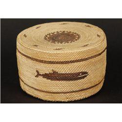 Makah North West Coast Lidded Basket