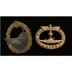 German WWII Naval U-Boat Submarine Badge