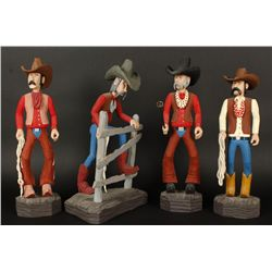 Collection of (4) Wood Carvings by A.J Stauffer
