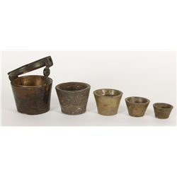 Set of Gold Scale Cups