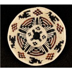 Pima/Papago Horsehair Flat Basket