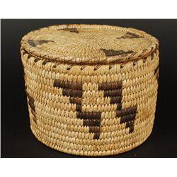 Papago Lidded Basket and Basket Tray