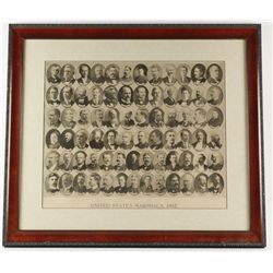 """Lithograph """"United States Marshals 1902"""""""