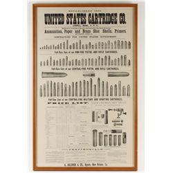 U.S. Cartridge Co. Poster 1889