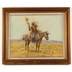Original Oil on Board by Joe Beeler