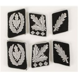 (3) Pairs of German WWII Waffen SS Collar Tabs