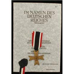 German WWII 2nd Class War Service Cross