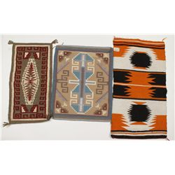 Lot of (3) Navajo Rugs and (1) Saddle Blanket