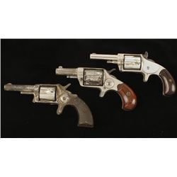 Lot of Three Spur Trigger Revolvers Cal .32 SN: 73