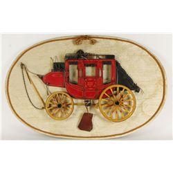 Original Art of Wells Fargo Stage Coach